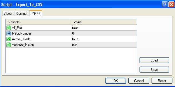 Script forex export to csv,eport to excell,statistik forex ,pindah ke csv ,ea-factory.com
